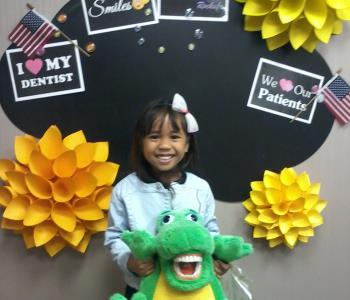Smiling little girl after the dental procedure from Sona J. Isharani, DDS in greensboro nc