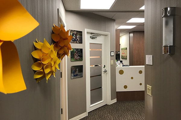 Sona J. Isharani, DDS, Office Tour Client Office hallway