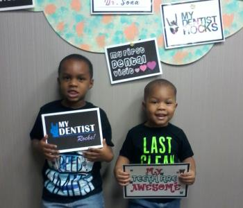 kids after the dental procedure from Sona J. Isharani, DDS in greensboro nc